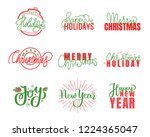 joy and happy holidays  merry... | Shutterstock .eps vector #1224365047