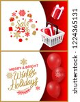 sale 25 percent price reduction ... | Shutterstock .eps vector #1224365131