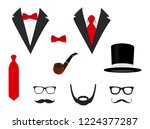 men's jackets. tuxedo with... | Shutterstock .eps vector #1224377287