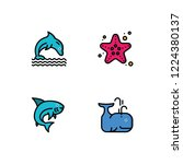 sea life detailed rounded... | Shutterstock .eps vector #1224380137