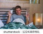 young sick wasted and exhausted ... | Shutterstock . vector #1224385981
