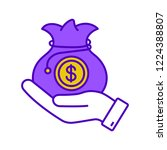 venture capital color icon.... | Shutterstock .eps vector #1224388807