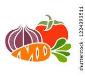 vector vegetables icon. flat... | Shutterstock .eps vector #1224393511