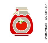 vector tomato jar icon. flat... | Shutterstock .eps vector #1224393514