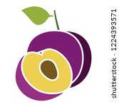 vector plums icon. flat... | Shutterstock .eps vector #1224393571