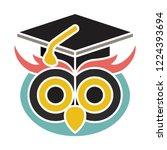 vector graduate owl icon. flat... | Shutterstock .eps vector #1224393694