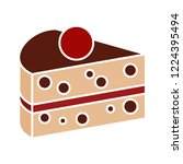 vector cake slice icon. flat... | Shutterstock .eps vector #1224395494