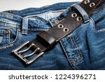 blue jeans with rock style... | Shutterstock . vector #1224396271