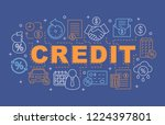 credit word concepts banner.... | Shutterstock .eps vector #1224397801