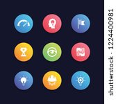 vision icon set | Shutterstock .eps vector #1224400981
