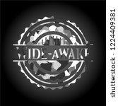 wide awake written on a grey... | Shutterstock .eps vector #1224409381
