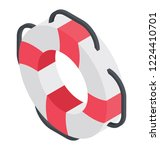a life saver tube depicting... | Shutterstock .eps vector #1224410701