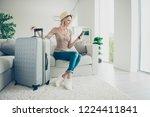 full legs body size leisure... | Shutterstock . vector #1224411841