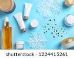 set of cosmetic products on... | Shutterstock . vector #1224415261