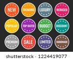 modern ecommerce website... | Shutterstock .eps vector #1224419077