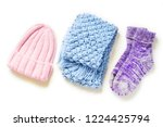 flat lay autumn and winter... | Shutterstock . vector #1224425794