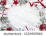 christmas silver handmade gift... | Shutterstock . vector #1224433564