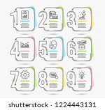 infographic timeline set of... | Shutterstock .eps vector #1224443131