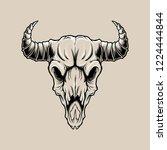 deer skull vintage with color... | Shutterstock .eps vector #1224444844
