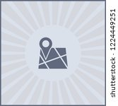 map pin icon. isolated address...