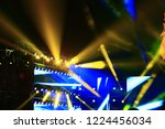 stage lighting effect in the... | Shutterstock . vector #1224456034