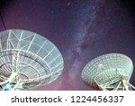 radio telescopes and the milky... | Shutterstock . vector #1224456337