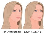 vector illustration. a female... | Shutterstock .eps vector #1224463141