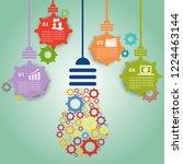 infographic hanging gears... | Shutterstock .eps vector #1224463144