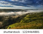 fog in the canyon of a... | Shutterstock . vector #1224464881
