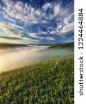 fog in the canyon of a... | Shutterstock . vector #1224464884