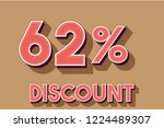 62  off discount promotion sale ... | Shutterstock .eps vector #1224489307