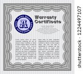 grey retro warranty template.... | Shutterstock .eps vector #1224497107