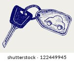 car keys. doodle style | Shutterstock .eps vector #122449945