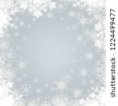 abstract snowflakes. 2d... | Shutterstock . vector #1224499477