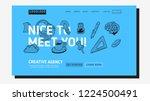 creative agency office landing... | Shutterstock .eps vector #1224500491