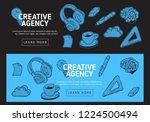creative agency office web... | Shutterstock .eps vector #1224500494