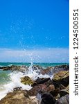coastline of the sea rocky...   Shutterstock . vector #1224500551
