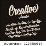 creative lettering alphabet.... | Shutterstock .eps vector #1224500914