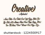 creative lettering alphabet.... | Shutterstock .eps vector #1224500917