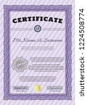 violet certificate or diploma... | Shutterstock .eps vector #1224508774