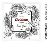 christmas and new year... | Shutterstock .eps vector #1224519211