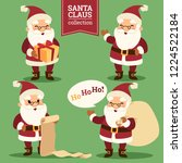 christmas santa claus with gift ... | Shutterstock .eps vector #1224522184