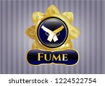 gold badge or emblem with...   Shutterstock .eps vector #1224522754