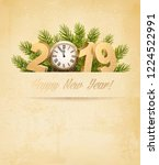 happy new year 2019 background... | Shutterstock .eps vector #1224522991