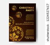 christmas party poster design...   Shutterstock .eps vector #1224527617
