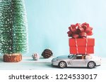 christmas holiday toys... | Shutterstock . vector #1224533017