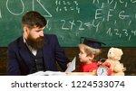 father with beard  teacher...   Shutterstock . vector #1224533074