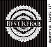 best kebab silvery shiny badge | Shutterstock .eps vector #1224534157
