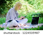 become successful freelancer.... | Shutterstock . vector #1224535987