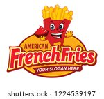 fast food american french fries ... | Shutterstock .eps vector #1224539197